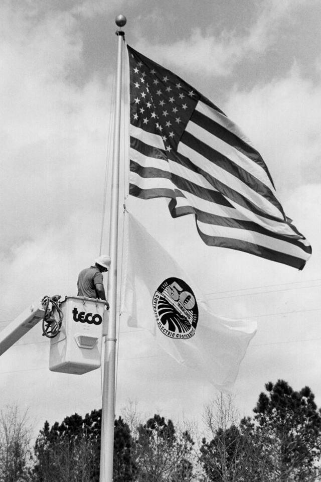 50th anniversary Flag raising