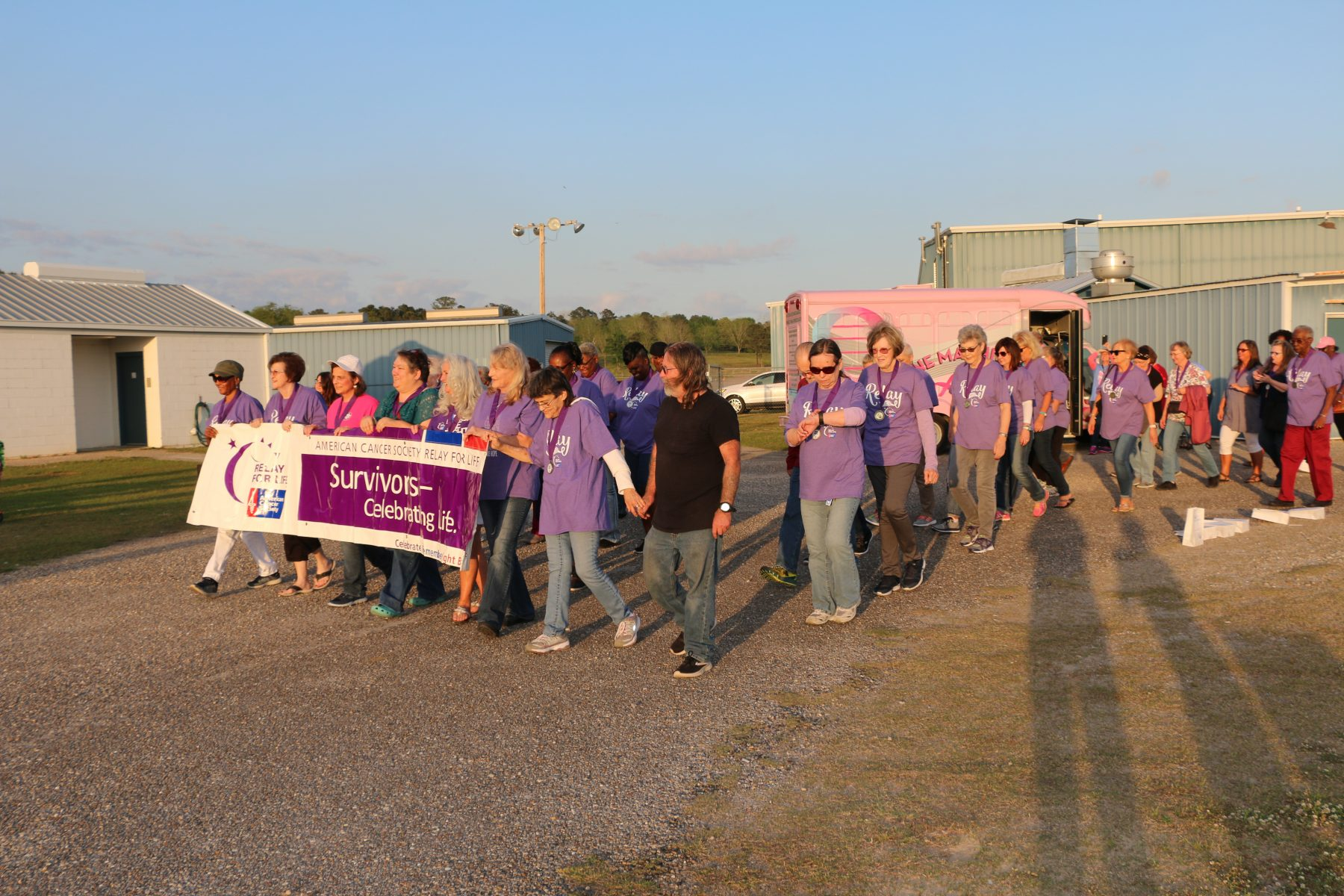 Relay For Life survivors group walking