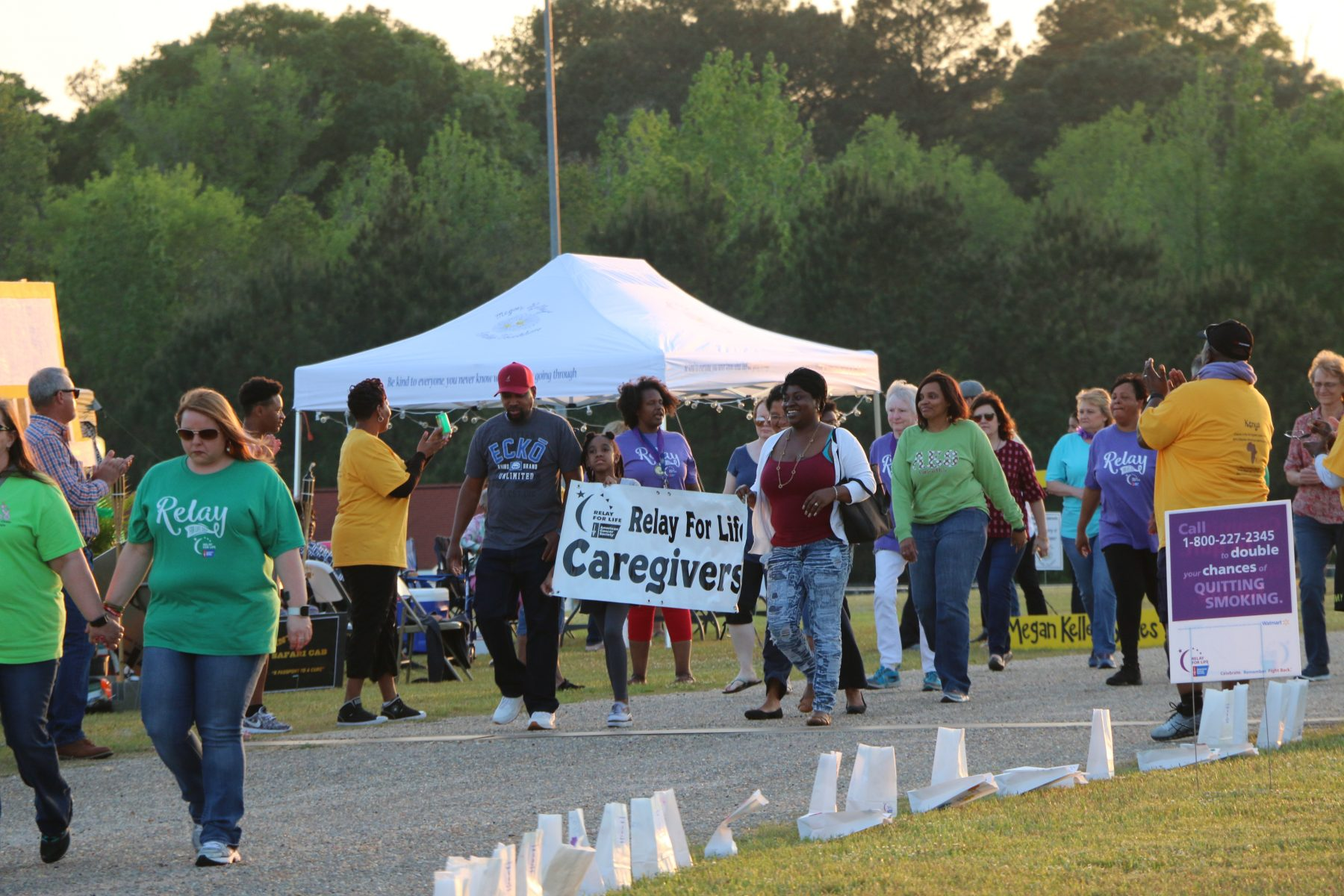 relay for life caregivers walking