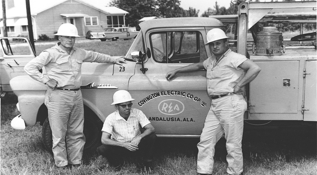 old cec truck and crew